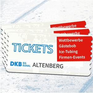 Ticktes Eintrittskarten Bobbahn Weltcup Weltmeisterschaft