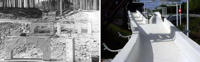 Historische Bilder Bobbahn Altenberg 7