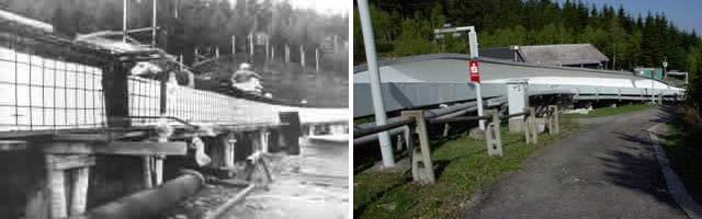Historische Bilder Bobbahn Altenberg 6